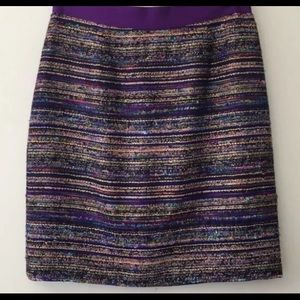 Kate Spade New York Sz 4 metallic pencil skirt